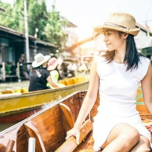 Amphawa floating market tour and Risky Market