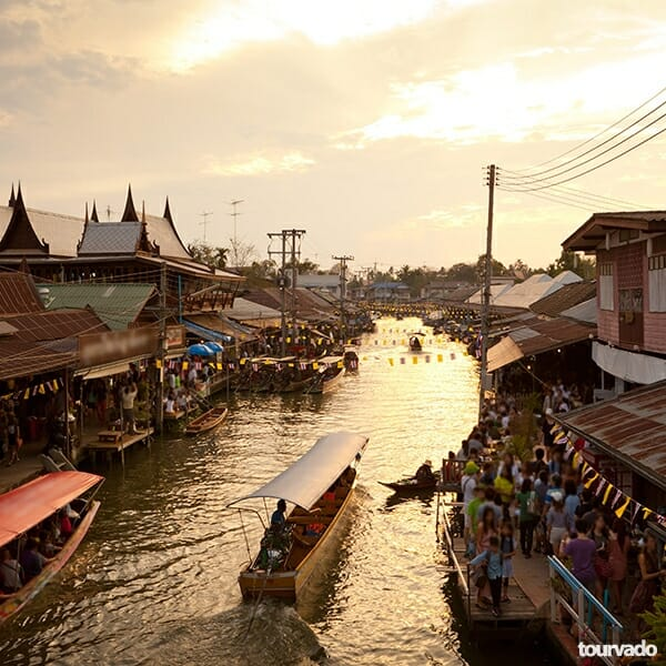 Damnoen Saduak Floating Market Full Day Tour & Rose Garden