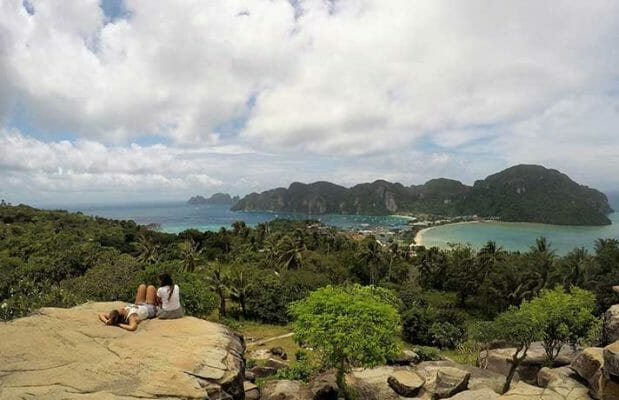 Phuket to Phi Phi islands, Visiting Phi Phi Island view point